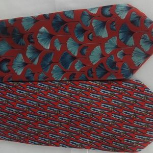 Other - 2 Gucci 100% Silk Ties With Designs